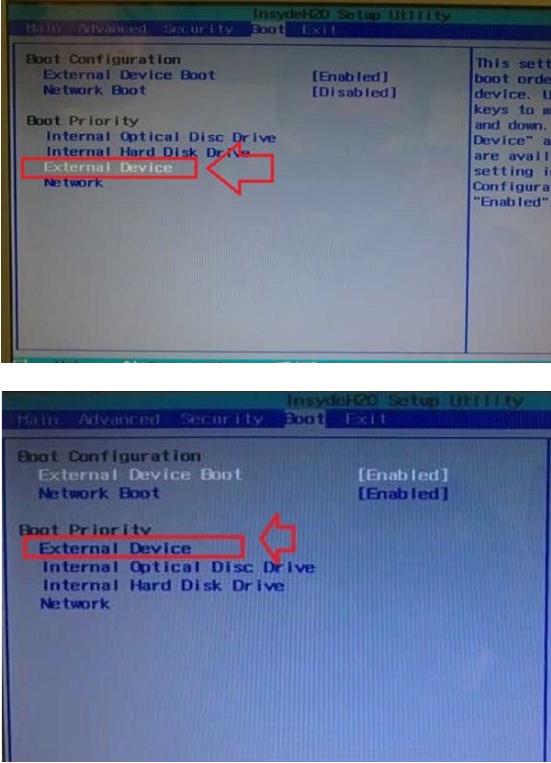 """1、索尼笔记本电脑重启或者直接开机的时候,狂按f2按键进入bios设置。然后使用键盘上的左右键,将其切换到boot选项下,再用键盘上的上下键选中""""External Device Boot"""",再按回车键操作,选择设置为:Enabled,再用回车键确认即可,如图:    2、接着使用向下方向键选中External Device项,按f5键设置External Device项目为第一启动项,此时你会发现""""External Device""""移动到""""Bo"""